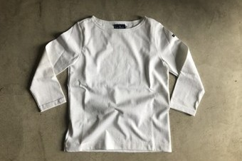 Lemior ルミノア 7分袖バスクシャツ LEF995001 ホワイト