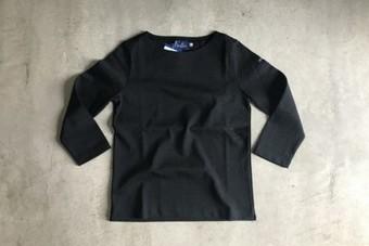 Lemior ルミノア 7分袖バスクシャツ LEF995001 ブラック