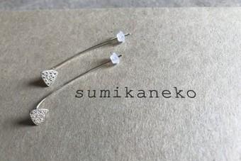 sumikaneko スミカネコ 18PO1 silver シルバー ピアス