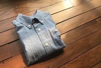 SanFranciscoサンフランシスコ カラーサッカーボタンダウンシャツ サックス