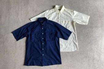 BLUE BLUE ブルーブルーレノストライプベローズ  ポケットハーフスリーブシャツ