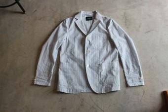 DELICIOUS デリシャス リラックスジャケット 3つボタン シアサッカー DJ0515-171