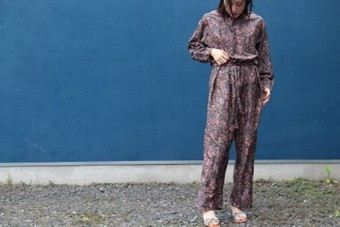 SOIL ソイル BANDED COLLAR OVERALLS S01-2105400